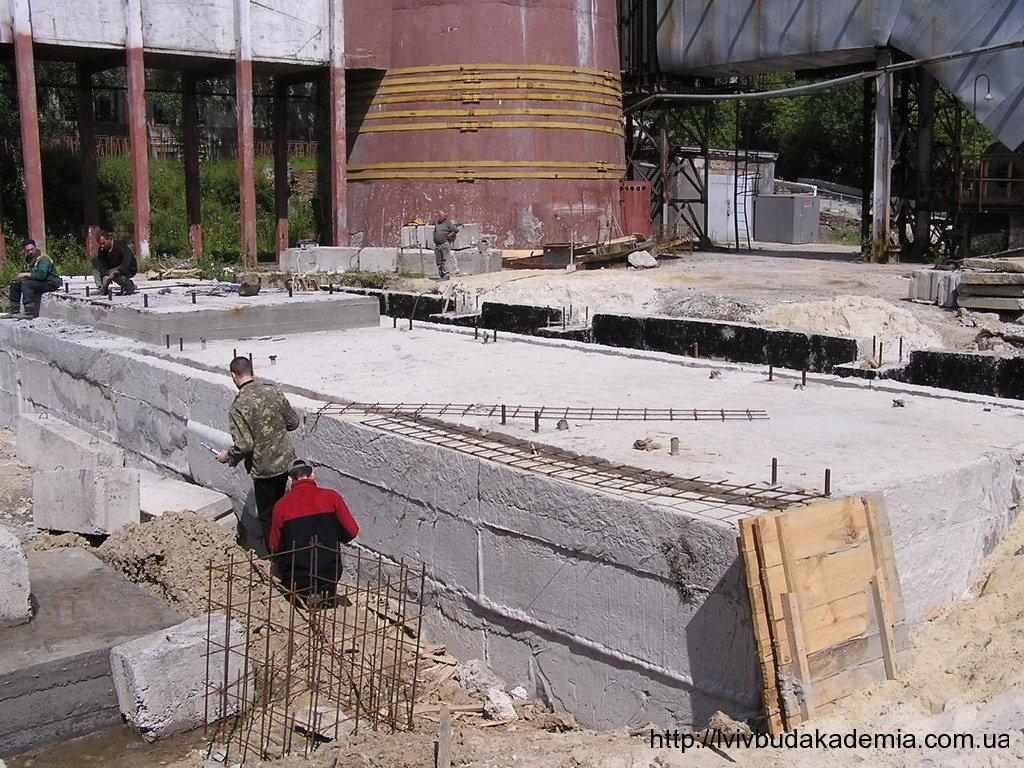 Фундамент під генератор ТЕЦ-1